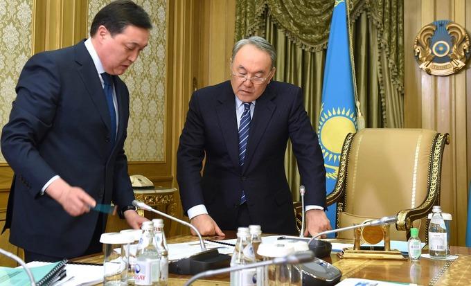 Асқар Мамин Нұрсұлтан Назарбаев