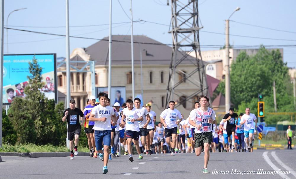 Қалалық марафонның басталу сәтінен