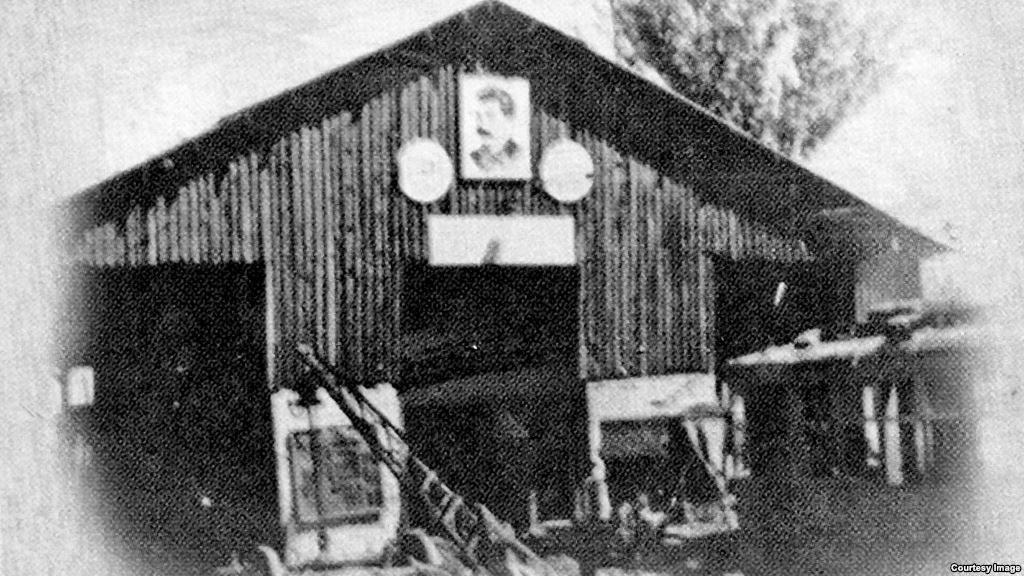 Алғашқы трамвай депосының суреті. «Алма-Ата трамвайына - 70 жыл» брошюрасынан алынған сурет.