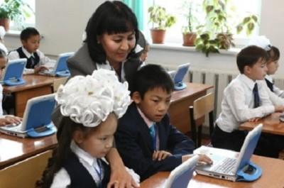 Мектеп мұғалімі оқушылар