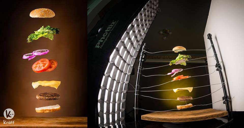 бургерді суретке түсіру