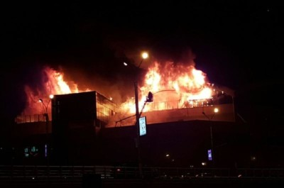 Almaty Towers өрт