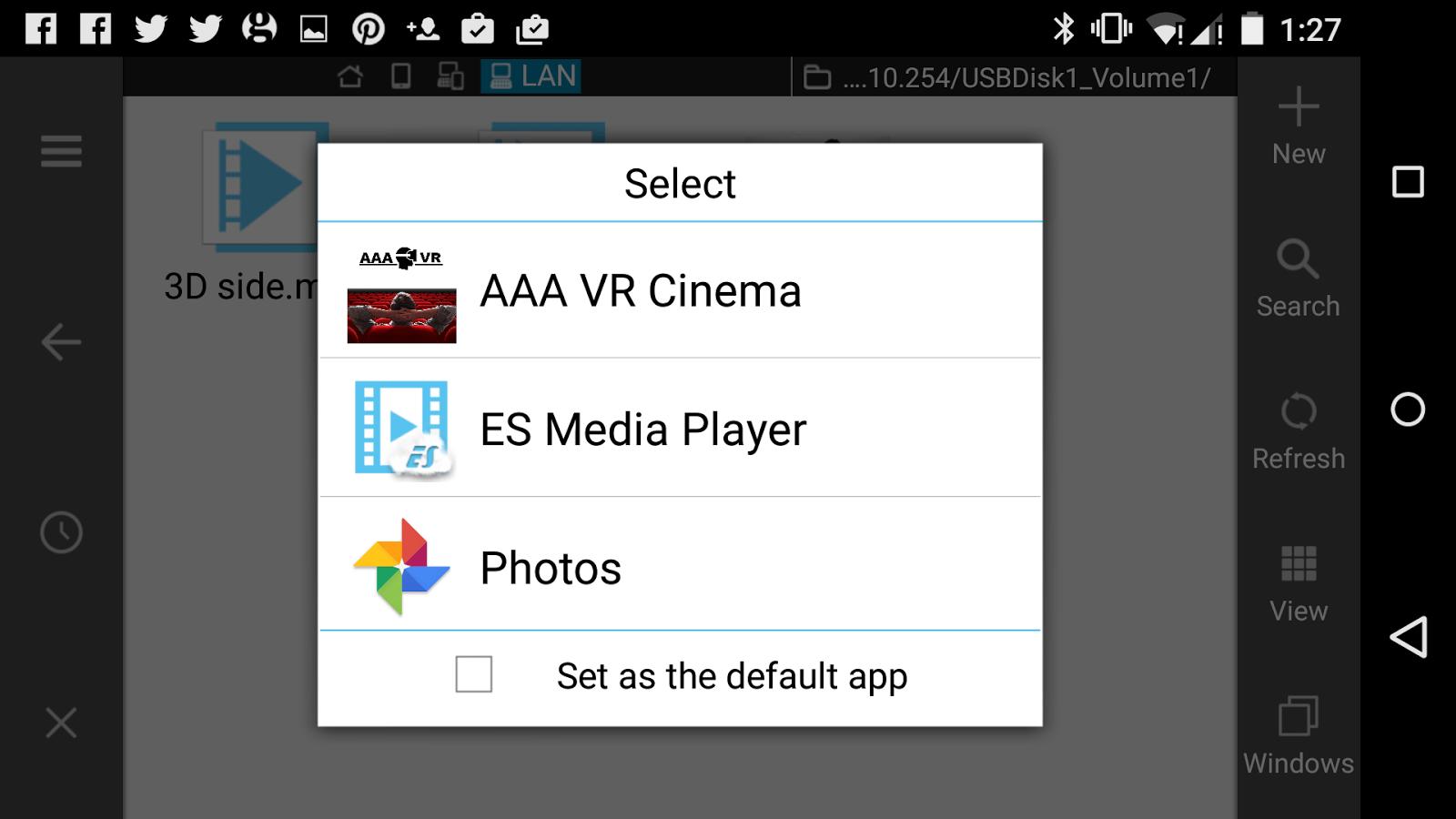 Andriod. AAA VR Cinema Cardboard 3D SBS