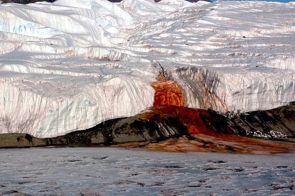 Қанды сарқырама, Антарктида