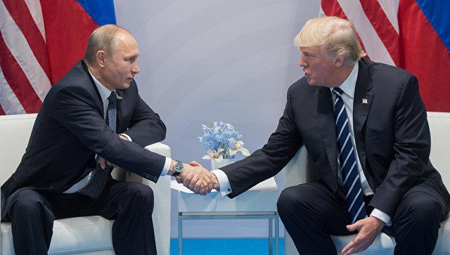 Владимир Путин мен Дональд Трамп