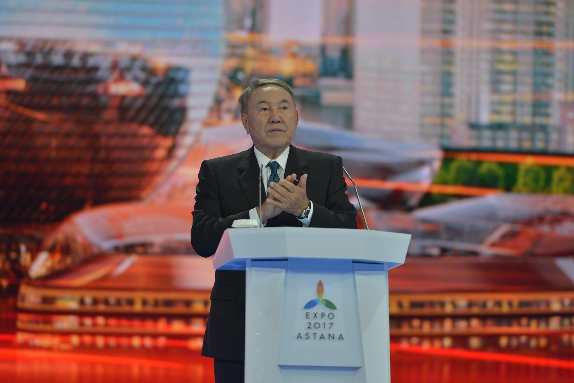 Нұрсұлтан Назарбаев ЭКСПО көрмесінің жабылу салтанатында