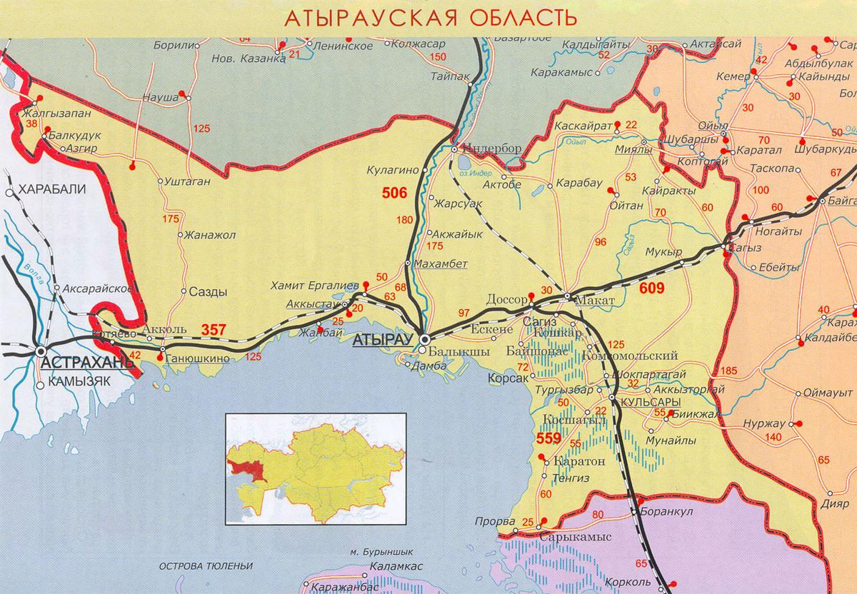 карта Атырау