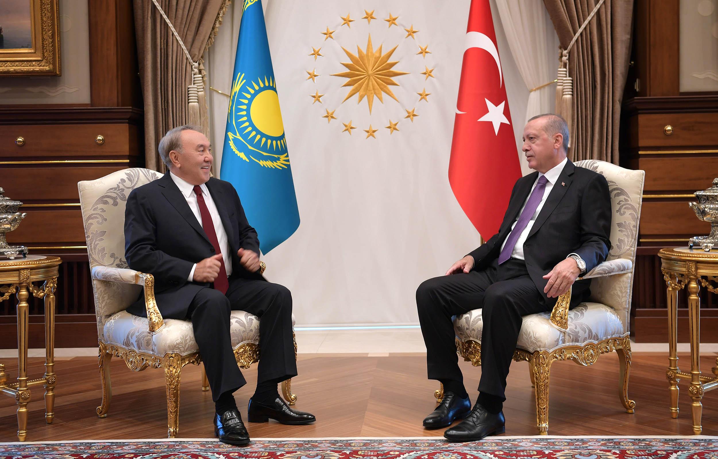 Нұрсұлтан Назарбаев пен Режеп Тайып Ердоған. Фото: Аkorda.kz