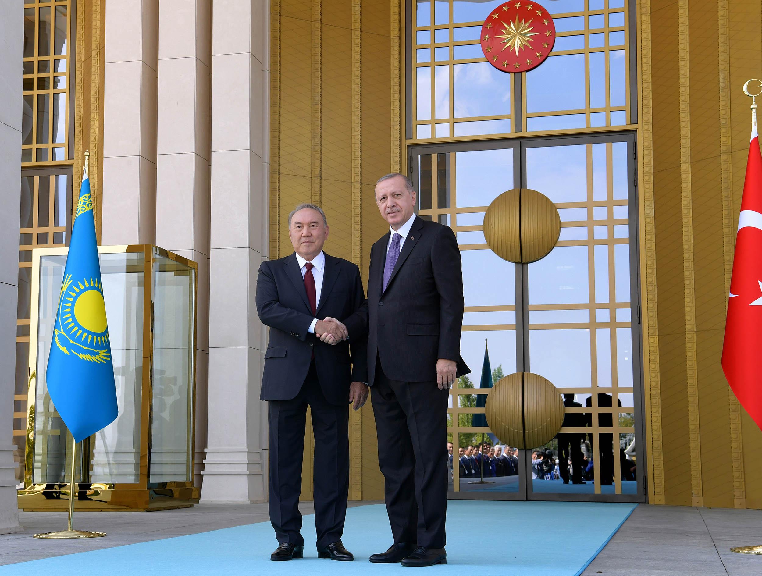 Нұрсұлтан Назарбаев пен Режеп Тайип Ердоған