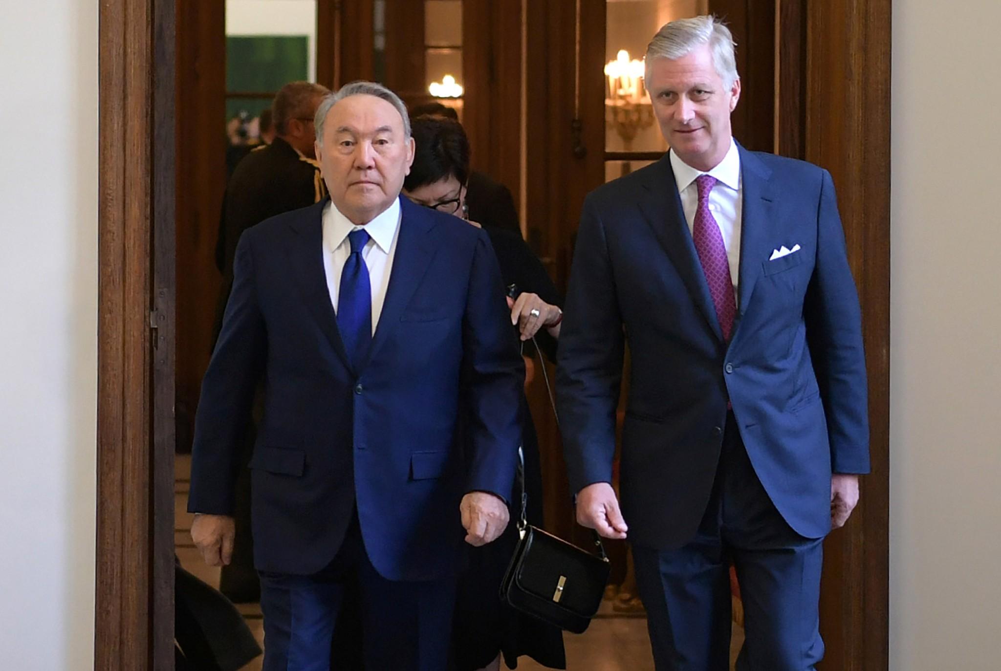 Назарбаев Бельгия королі