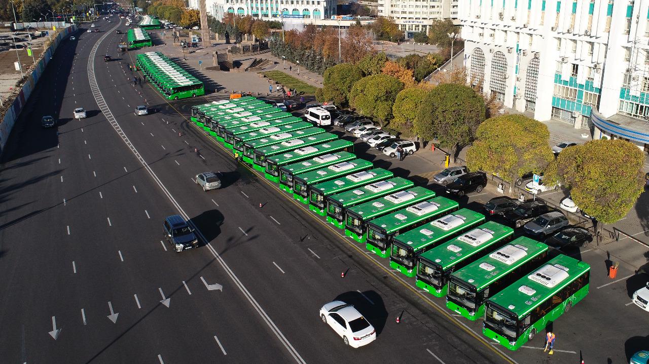 Алматының жаңа автобустары