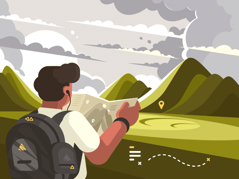 Турист, саяхатшы, маршрут