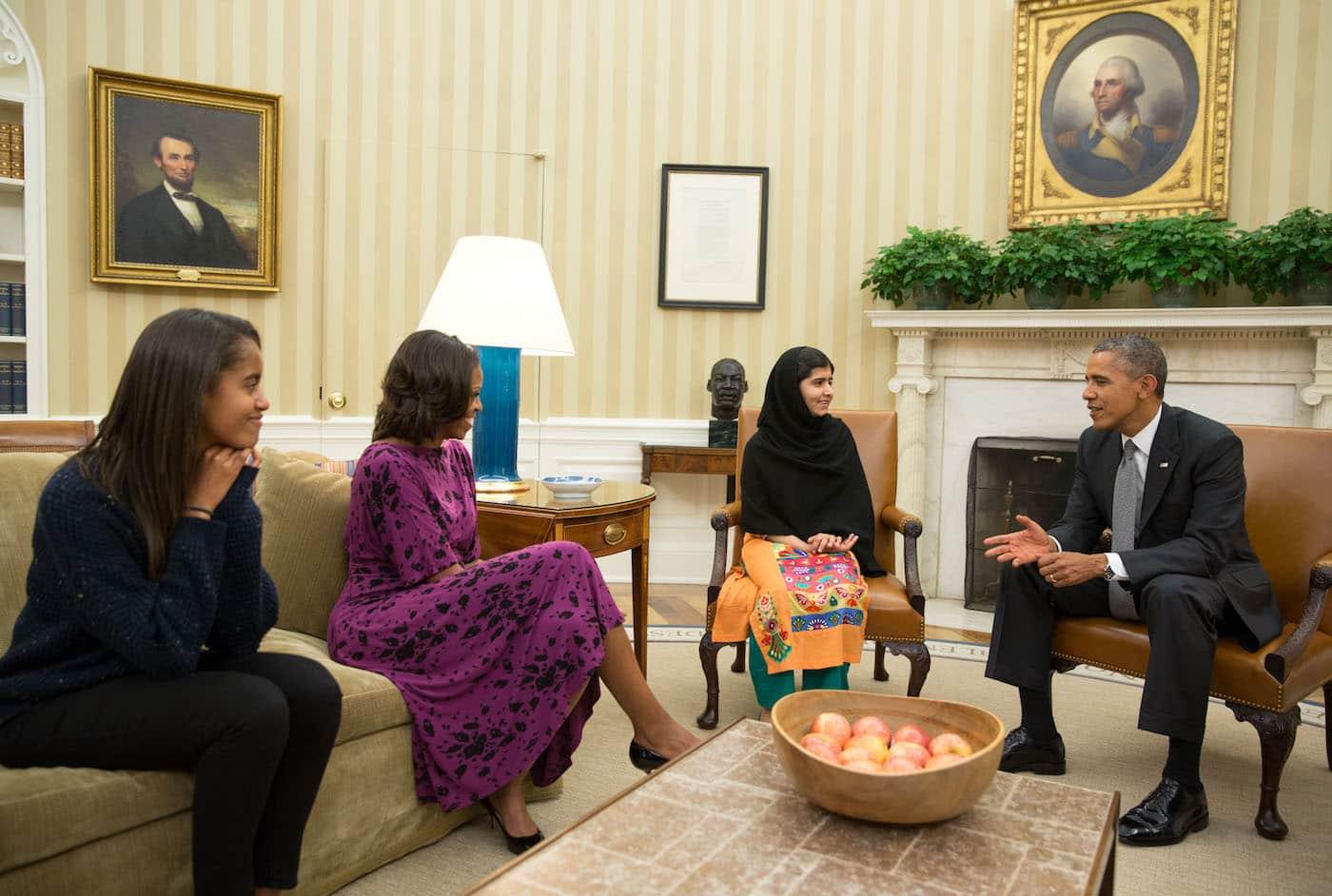 Малала Юсуфзай, Барак Обама