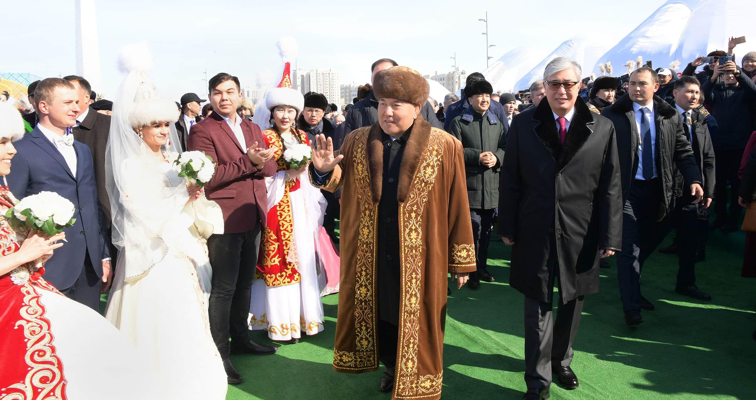 Наурыз Нұрсұлтан Назарбаев пен Қасым-Жомарт Тоқаев