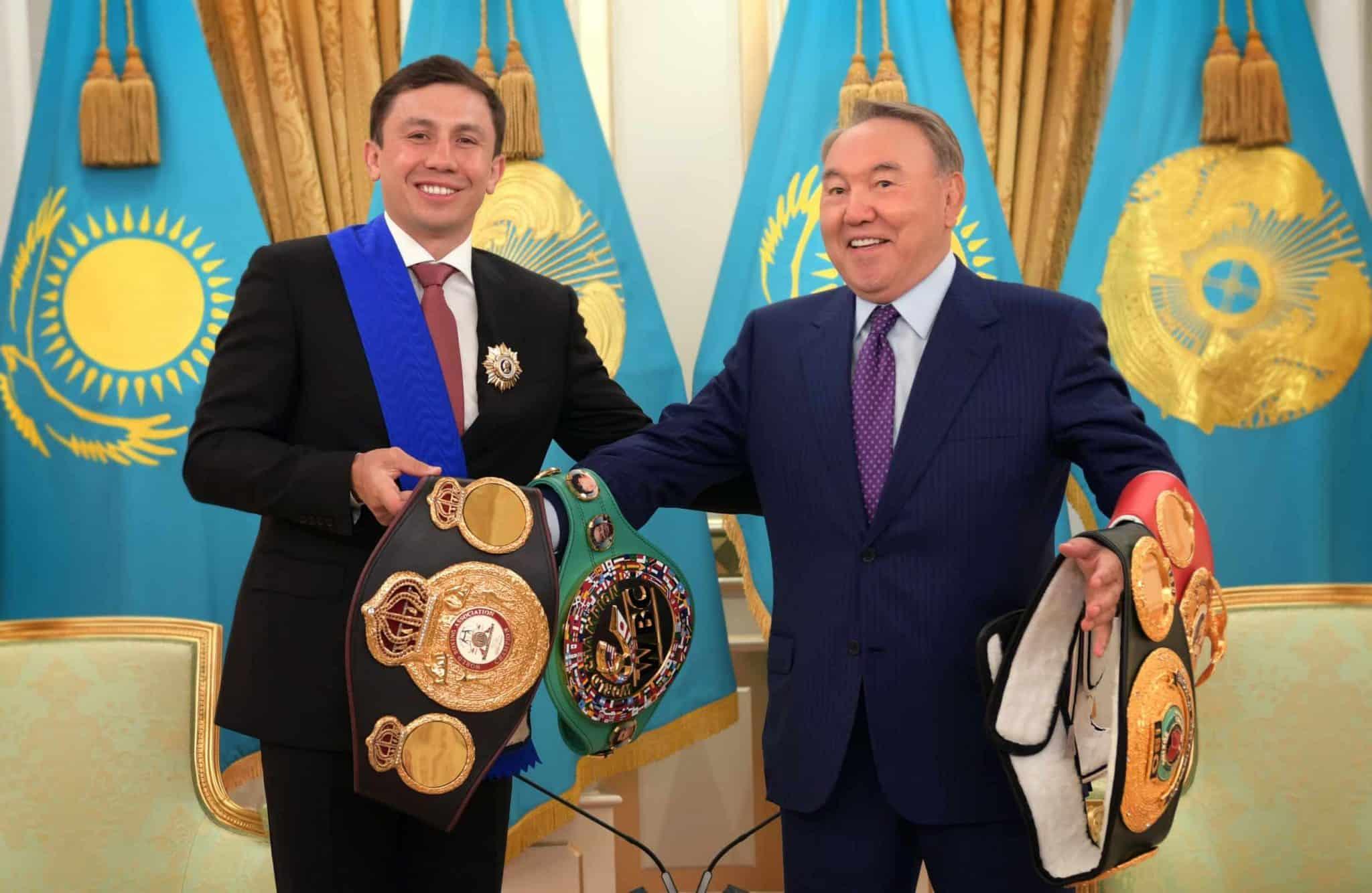 Головкин мен Назарбаев