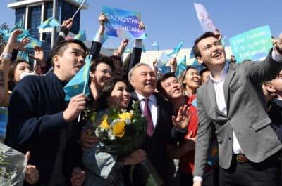 Назарбаев Жастар Елбасыны қарсы алды Алматы
