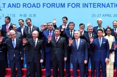 """Нұрсұлтан Назарбаев әлем көшбасшыларымен бірге """"Бір белдеу, бір жол"""" форумында."""