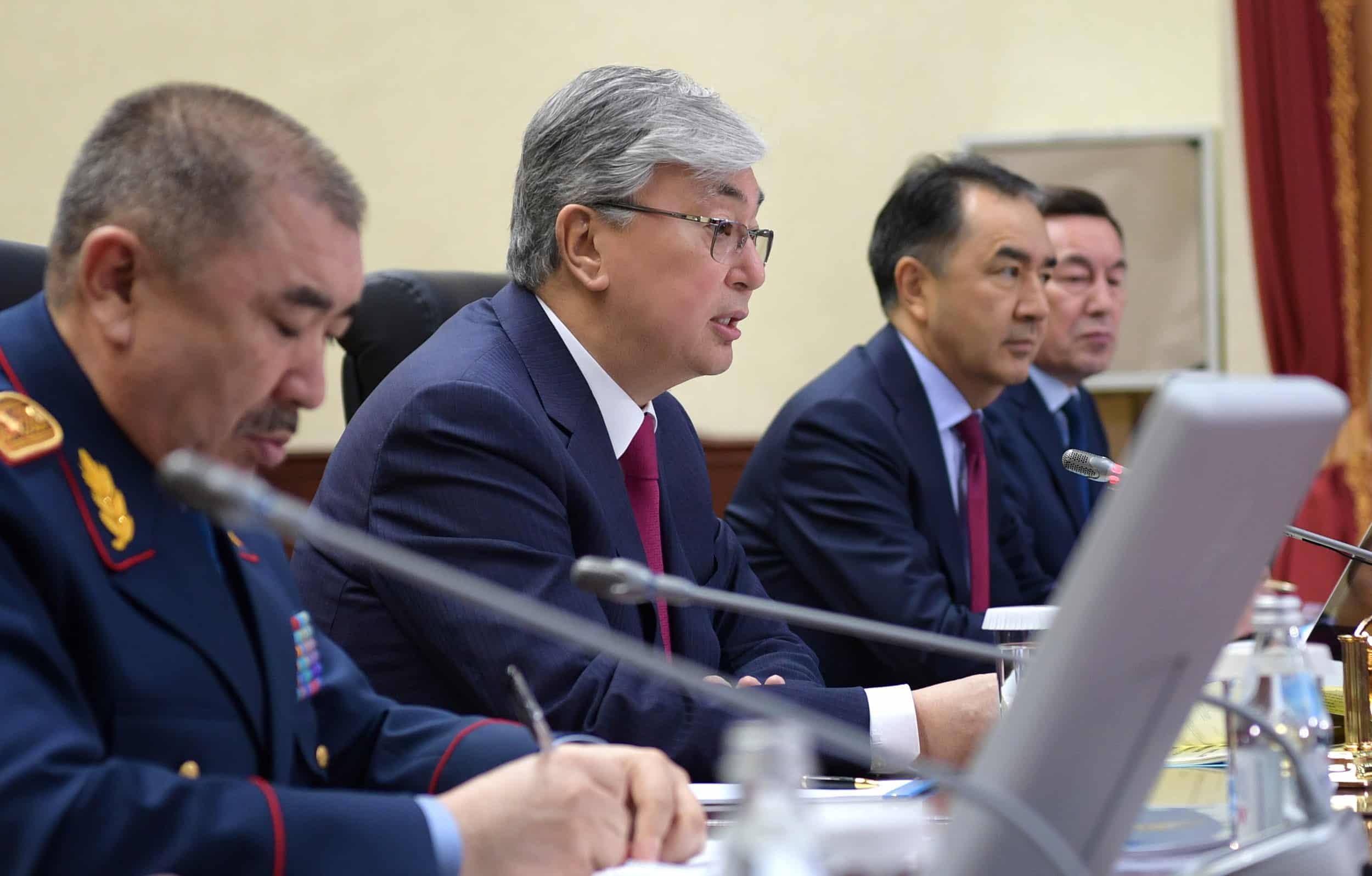 Қасым-Жомарт Тоқаев Ішкі істер министрлігінің кеңейтілген алқа отырысында