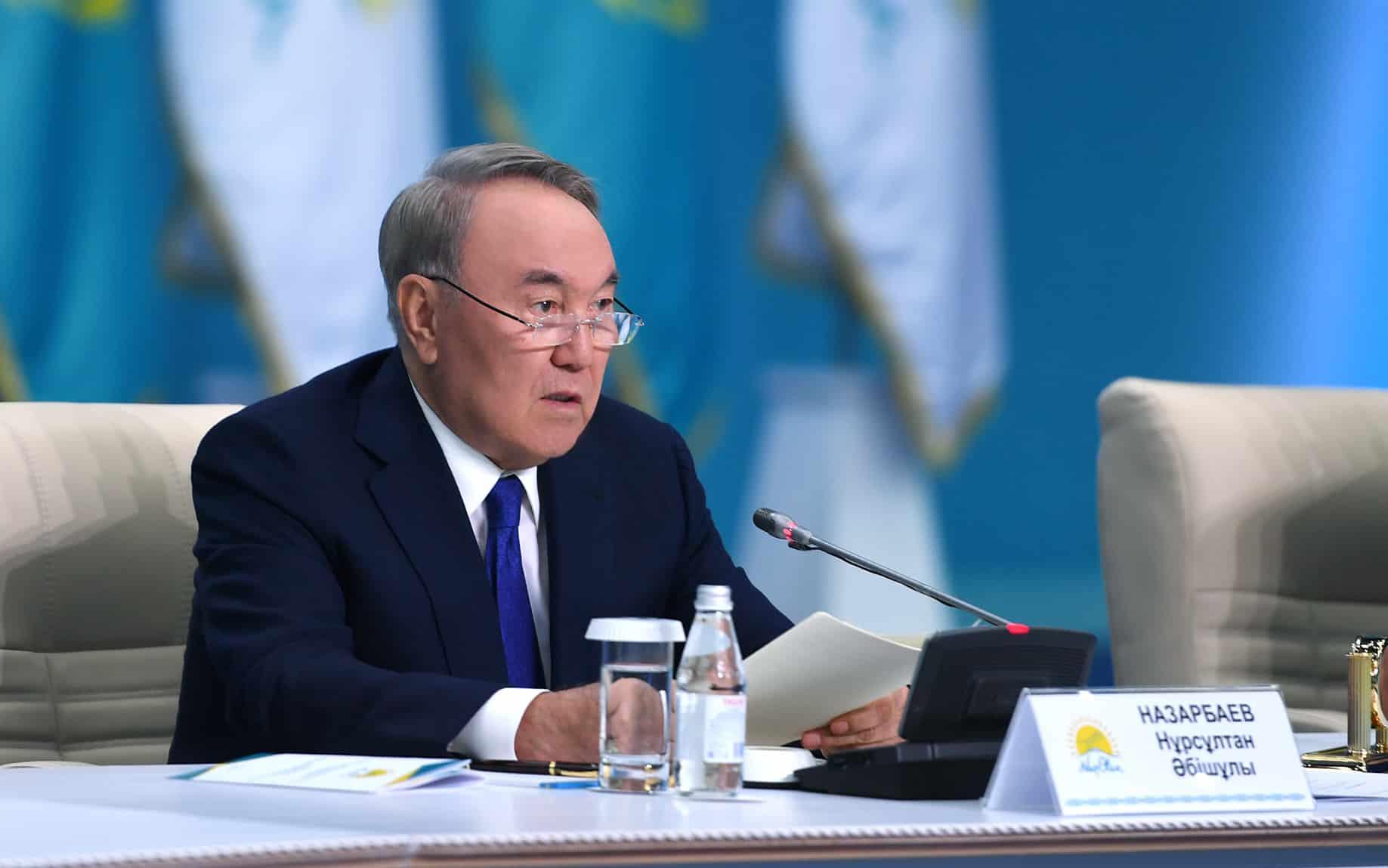 Нұрсұлтан Назарбаев Nur Otan партиясының кезектен тыс ХІХ съезінде