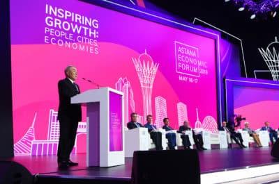 Нұрсұлтан Назарбаев Астана экономика форумында