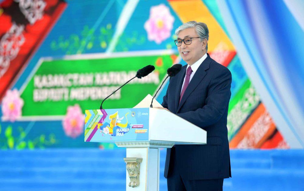Қасым-Жомарт Тоқаев 1 мамыр мерекесіне арналған іс-шарада