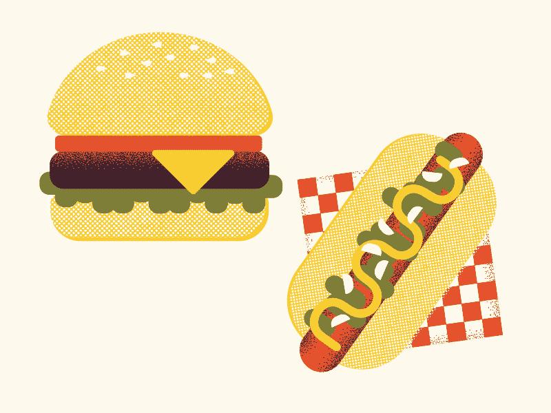 Хот-дог, бургер