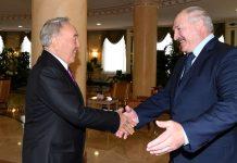 Нұрсұлтан Назарбаев пен Александр Лукашенко