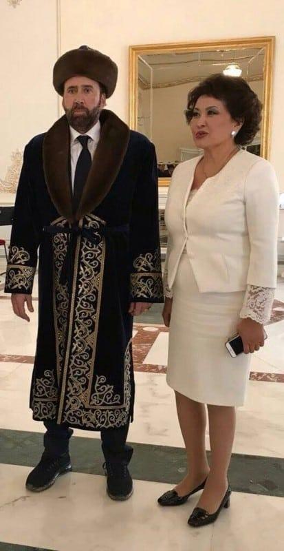 Николас Кейдж және Айман Мұсақожаева