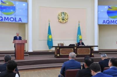 Қасым-Жомарт Тоқаев Ақмола облысында