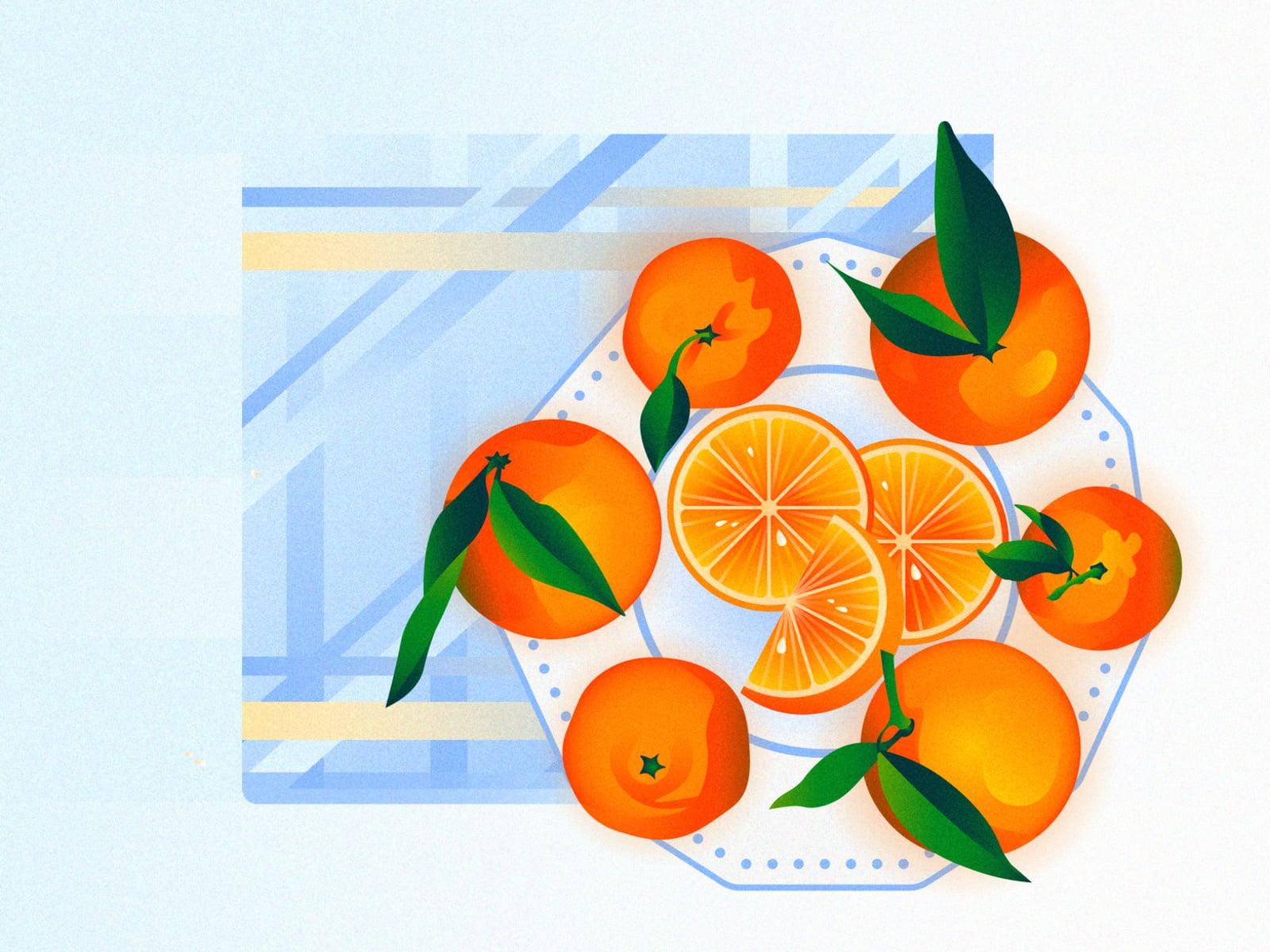 Апельсин, мандарин