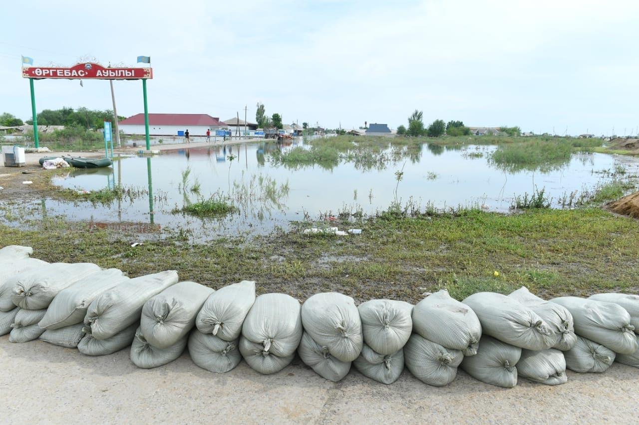 Мақтаарал ауданы, Өргебас ауылы, су тасқыны