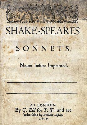 1609 жылы шыққан «Сонеттердің» мұқабасы. Фото: folger.edu