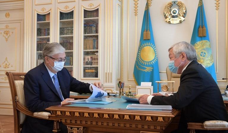 Қасым-Жомарт Тоқаев және Бердібек Сапарбаев