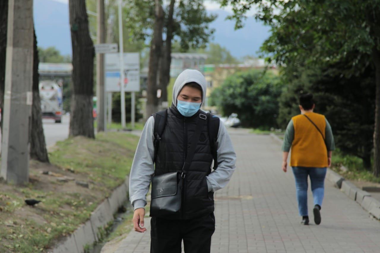 Алматы, маска, коронавирус