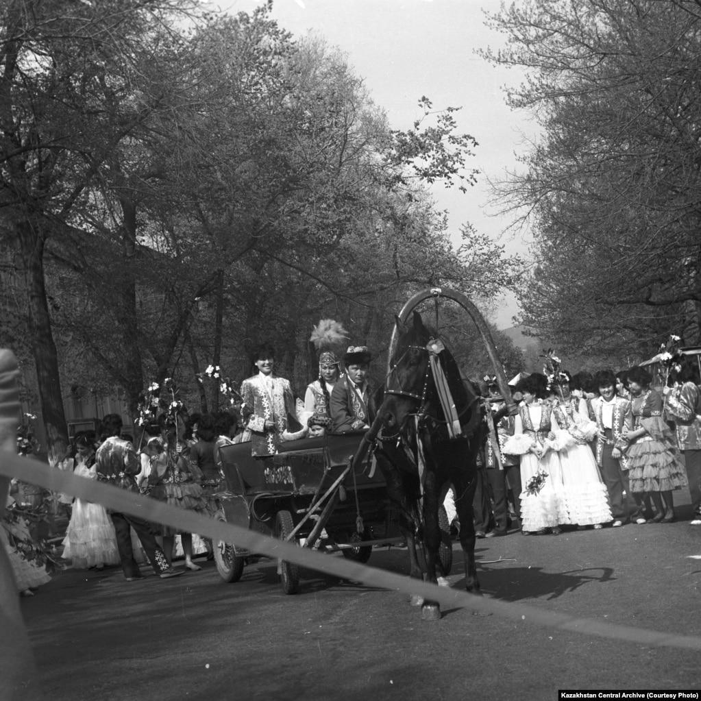 Алматы, 1988 жыл. Наурыз ұлттық мейрамының ашылу сәті.